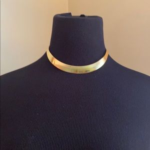 Vintage Gold colored Choker Necklace Sterl…